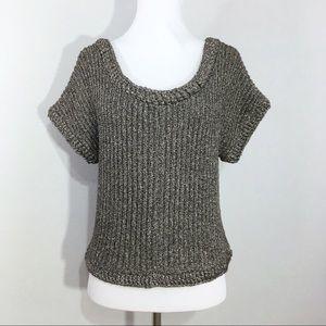 Ella Moss Metallic Silver Chunk Knit Sweater XS